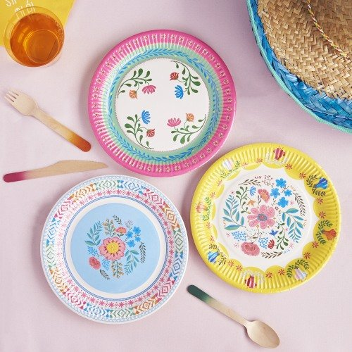 Boho Floral Party Plates