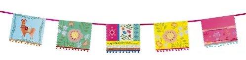 Boho Fiesta Bridal Shower Theme Boho Pennant Pom Pom Banner