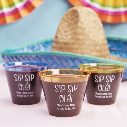 Boho Personalized Clear Plastic Cups