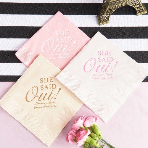 Parisian Chic Bridal Shower Theme Party Paper Napkins