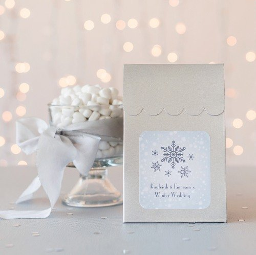 Wedding Winter Themed Personalized Gift Bags