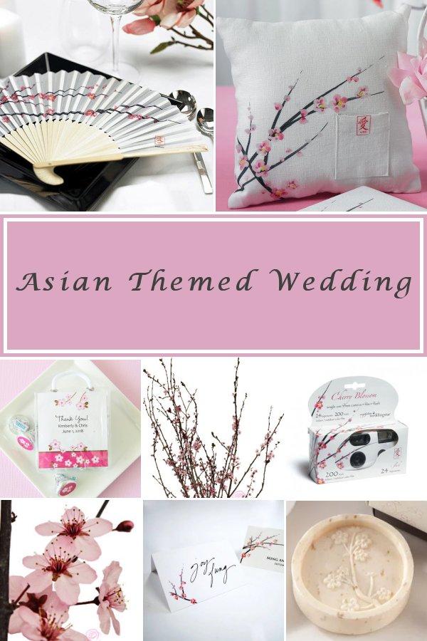 Asian Themed Bridal Shower and Wedding Cherry Blossom Decor Ideas - WeddingConnexion.com