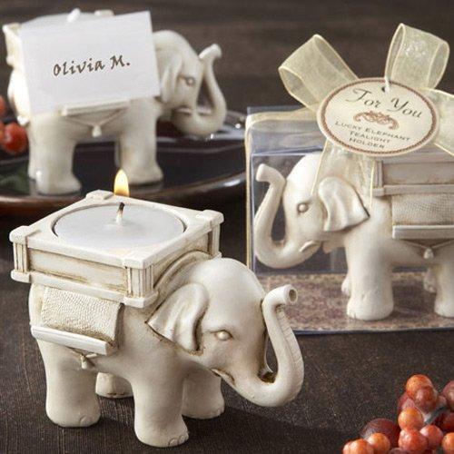 Ivory Elephant Place Card Tealight Holders