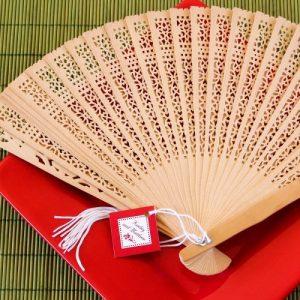 Asian Themed Wedding and Bridal Shower Sandalwood Fans