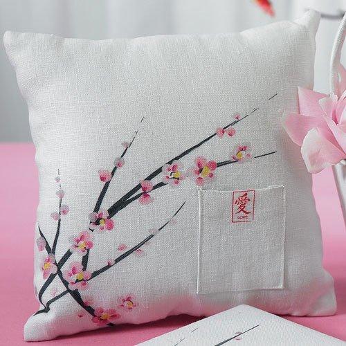 Asian Themed Wedding and Bridal Shower Cherry Blossom Ring Bearer Pillow