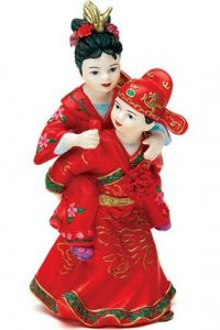 Hand Painted Porcelain Asian cake topper
