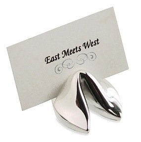 Asian Silver Fortune Cookie Place Card Holders