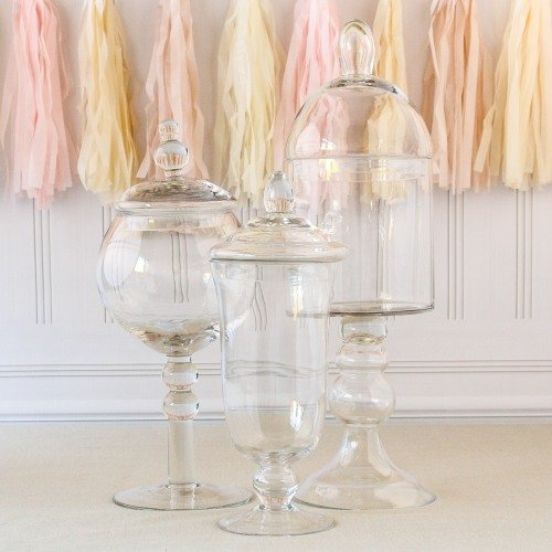 Candy Bar Apothecary Glass Jars