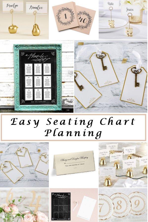 Easy Wedding Reception Seating Chart Planning Stylish Wedding - WeddingConnexion.com