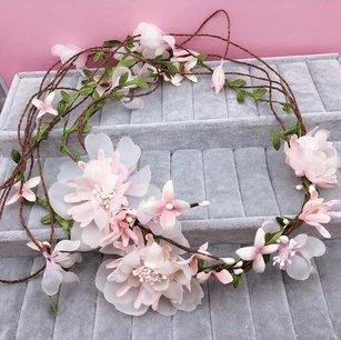 Enchanted Garden Wedding Theme Floral Bridal Hair Wreath