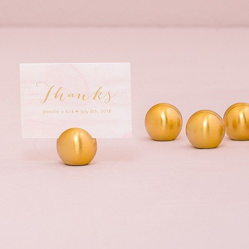 Gold Classic Round Place Card Holders