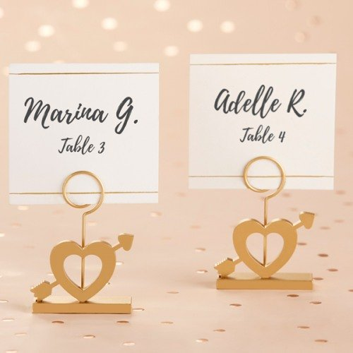 Gold Cupid's Arrow Place Card Holders