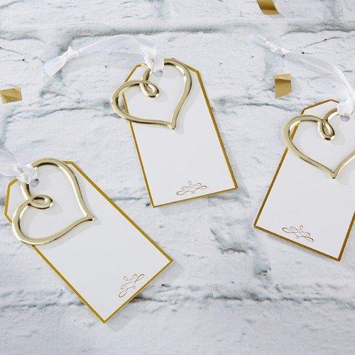 Gold Heart Escort Cards