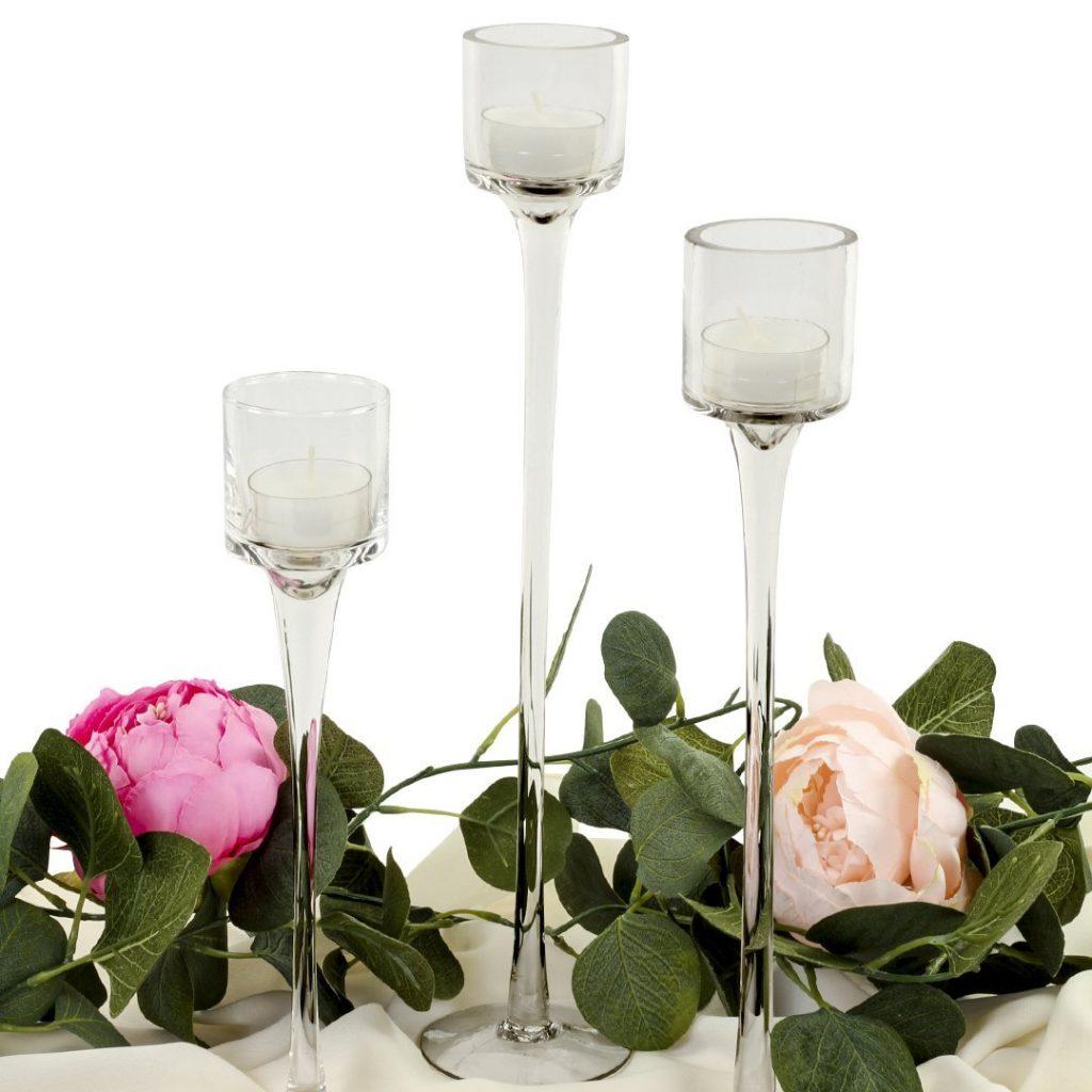 Long Stemmed Tealight Candle Holder Set