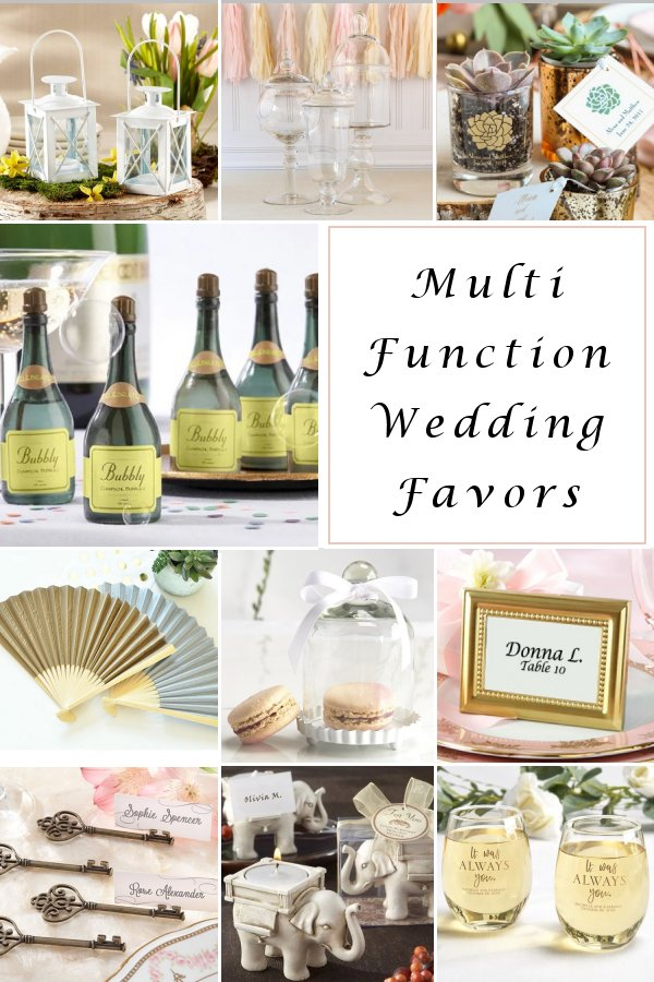 Multi-Function Wedding Favors that double as wedding reception accessories and table decor as well! WeddingConnexion.com