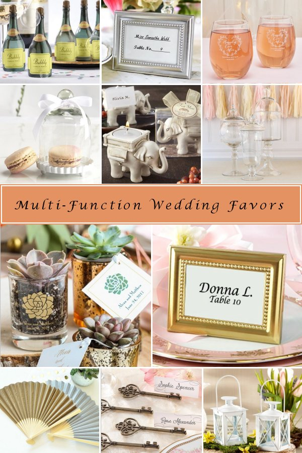 Save Money with Multi-Function Wedding Favors. Find some wonderful favor ideas that double as wedding reception accessories as well! WeddingConnexion.com
