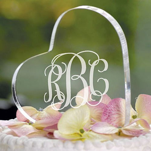 Personalized Heat Shaped Cake Topper