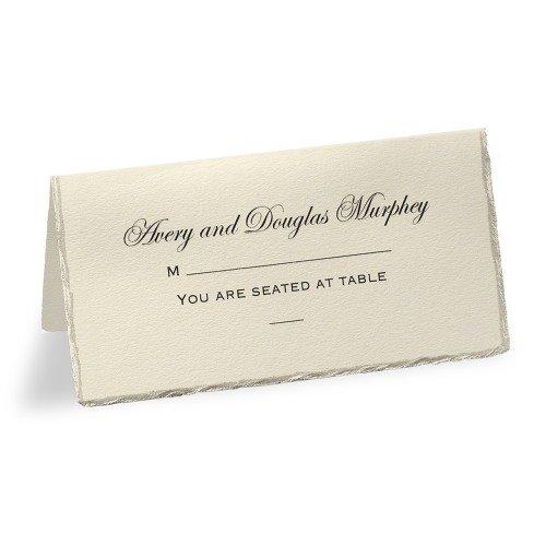Personalized Pearl Edge Escort Cards