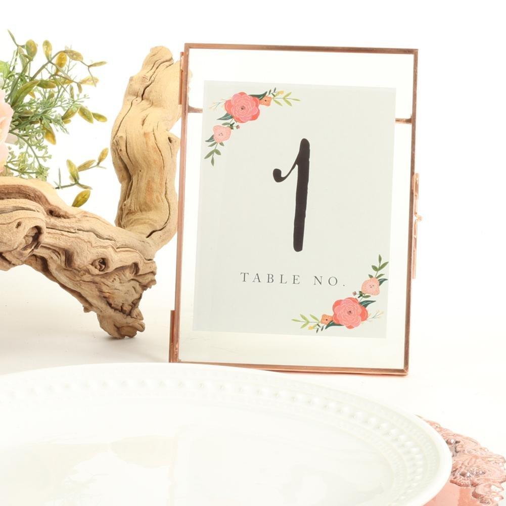 Enchanted Garden Wedding Theme Press Glass Floating Photo Frame