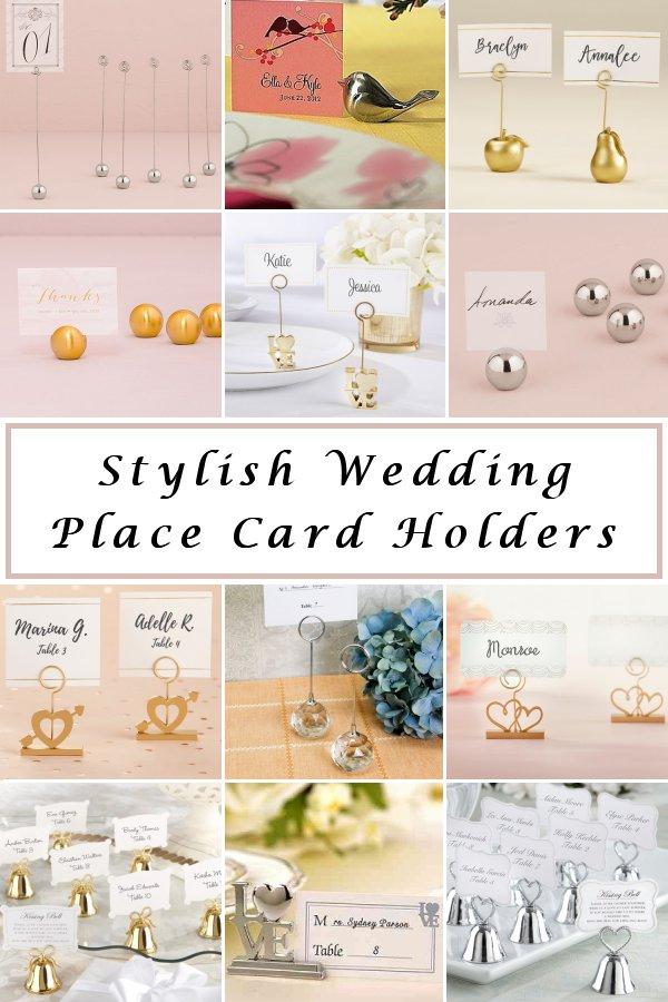 Easy Seating Chart Planning Stylish Wedding Reception Place Card Holders - WeddingConnexion.com