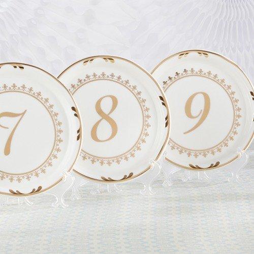 Vintage Plate Table Number