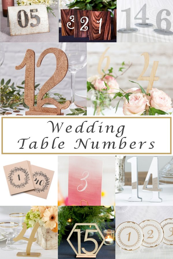 Easy Seating Chart Planning Wedding Reception Table Numbers - WeddingConnexion.com