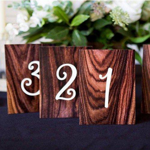 Wood Grain Table Number