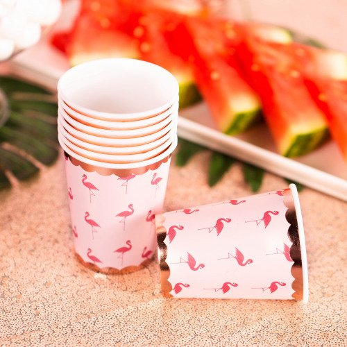 Flamingo Party Paper Cups