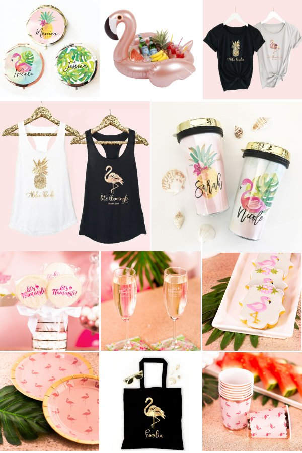 Let's Flamingle Bachelorette Themed Party Supply and Favor Ideas _ WeddingConnexion.com