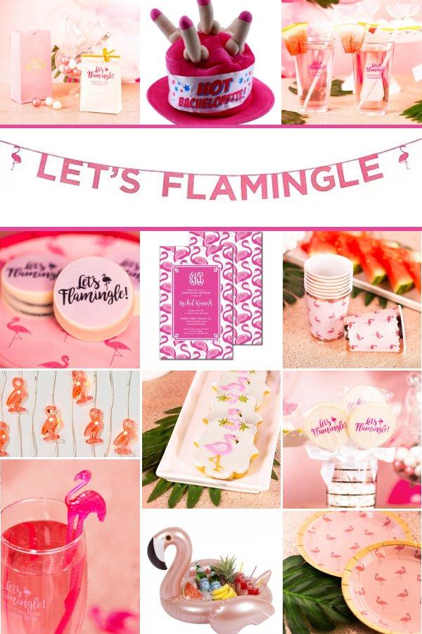 Let's Flamingle Bachelorette Party Theme Party Supply and Decor Ideas _ WeddingConnexion.com
