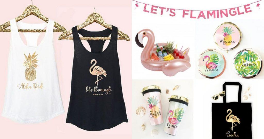 Let's Flamingle Themed Bachelorette Party