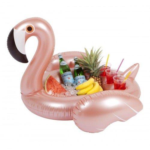 Let's Flamingle Bachelorette Party Rose Gold Flamingo Inflatable Pool Bar