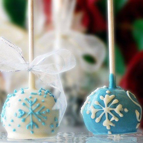 Winter Wonderland Wedding Cake Pop Favors