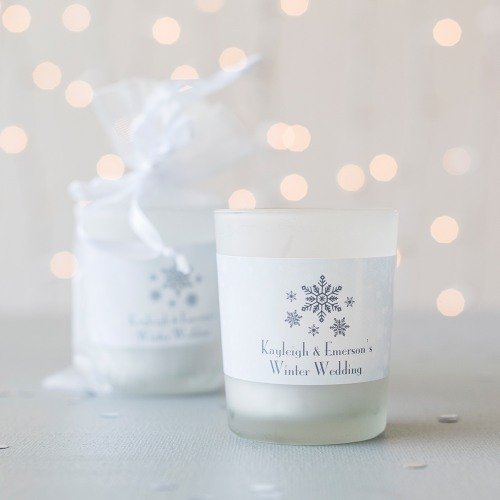 Personalized Frosted Glass Votive Favors
