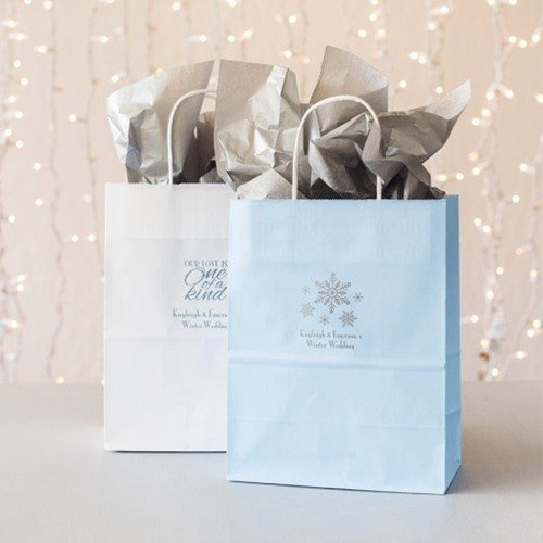 Winter Wonderland Wedding Favors Personalized Gift Bags