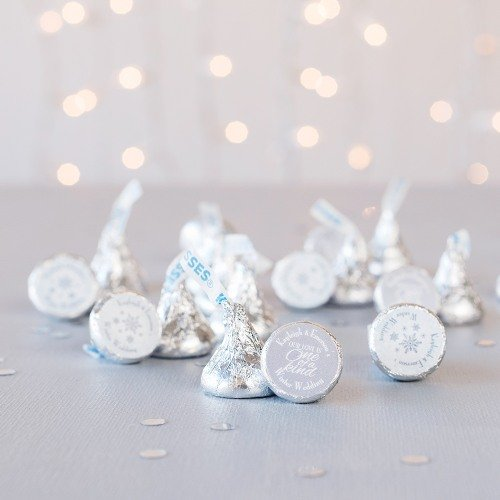 Winter Themed Personalized Hershey's Kisses