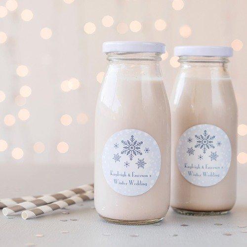 Personalized Milk Favor Jars & Straws
