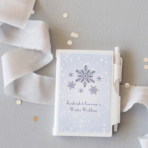 Winter Themed Personalized Notebook Favors