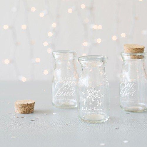 Personalized Milk Favor Jars