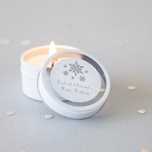 Personalized Candle Favor Tins