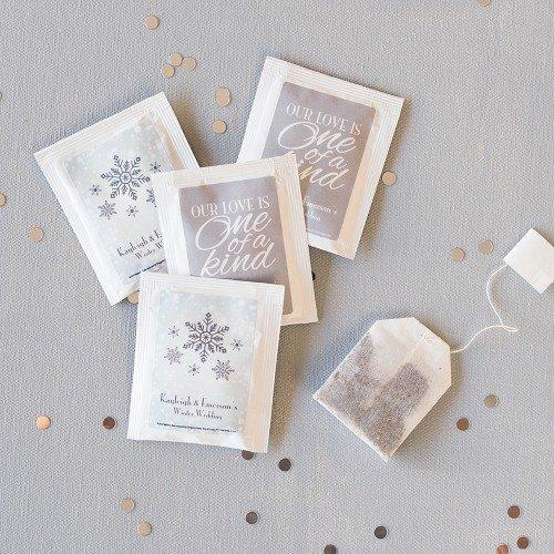 Personalized Tea Bag Edible Wedding Favors