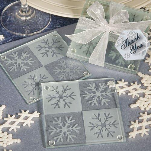 Snowflake Glass Coaster Favors