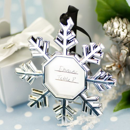 Snowflake Place Card Favor Ornaments