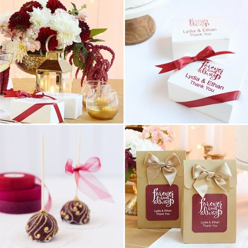 Burgundy and Gold Fall Wedding Theme Ideas