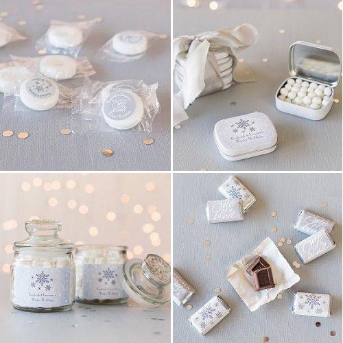 Winter Themed Edible Wedding Favors