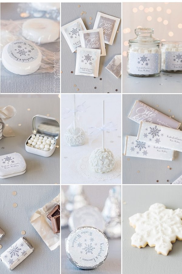 Winter Themed Edible Wedding Favors - Ideas from WeddingConnexion.com
