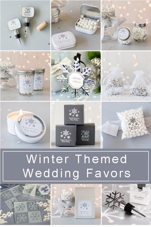 Get inspired with our selection of winter themed wedding favor Ideas - Visit us at WeddingConnexion.com