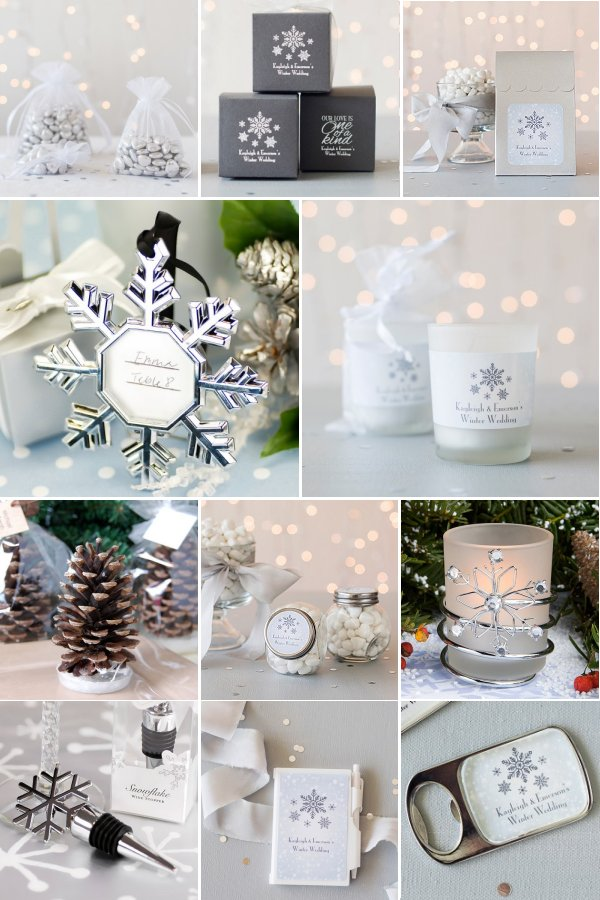 Find your Favorite winter themed wedding favors at WeddingConnexion.com