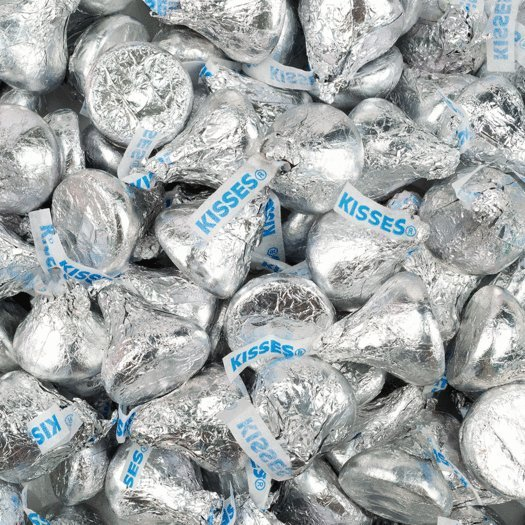 Silver Hershey's Kisses
