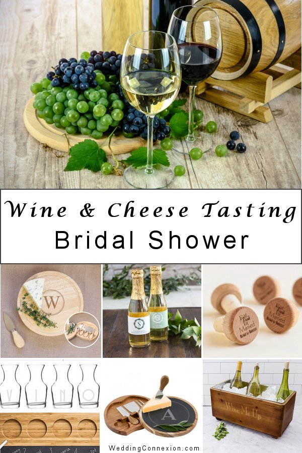 A wine and cheese tasting bridal shower is a fun and easy theme to organize - Get inspired with delightful table decor ideas and favors for your guests - WeddingConnexion.com